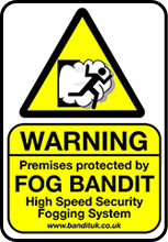 fog bandit warning sticker