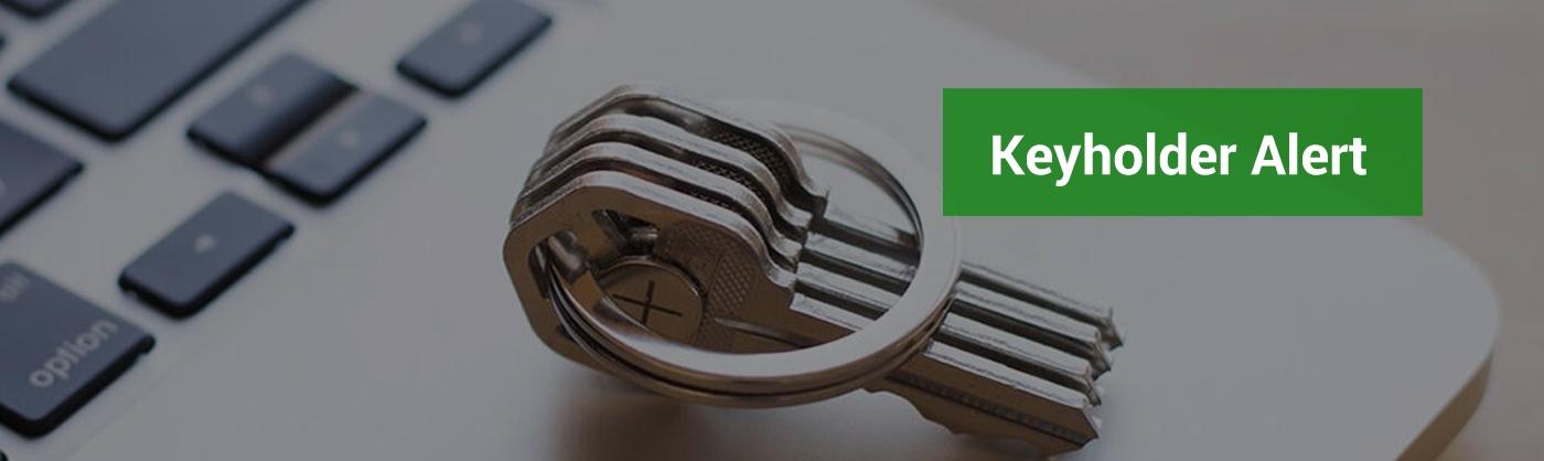 Keyholder alert - showing keys