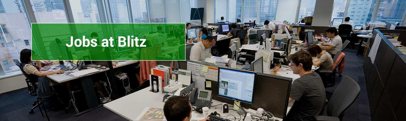 Jobs at Blitz, staff at desks