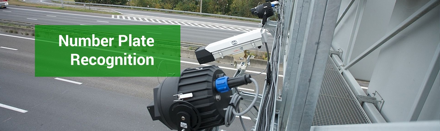 Number plate recognition cameras over motorway