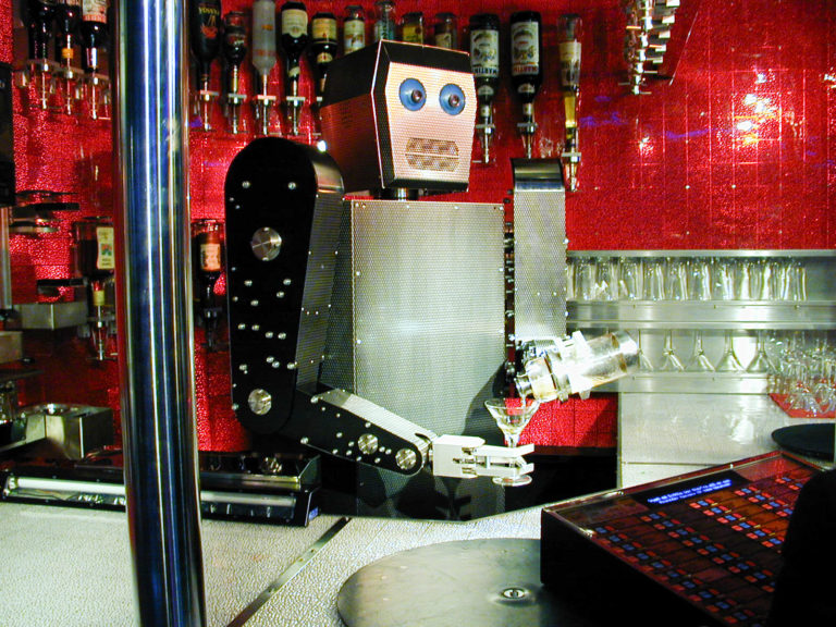 Cynthia's robot bartender