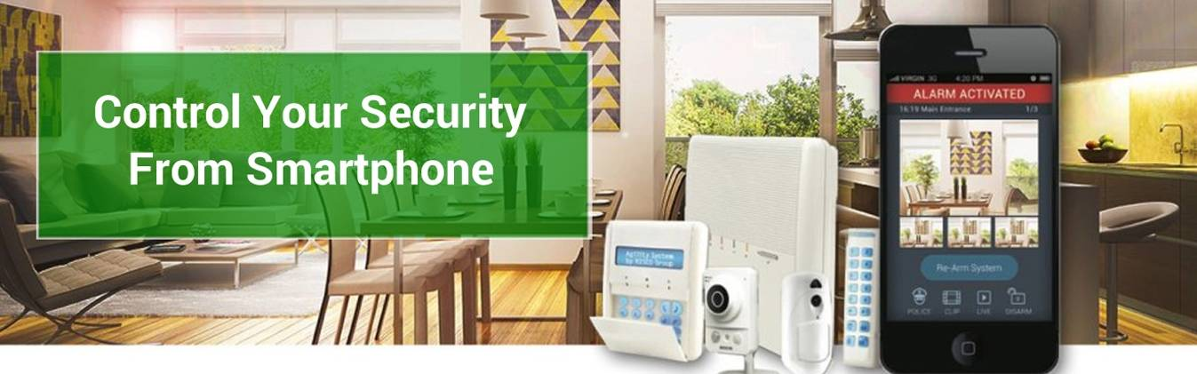 Security system with smartphone app