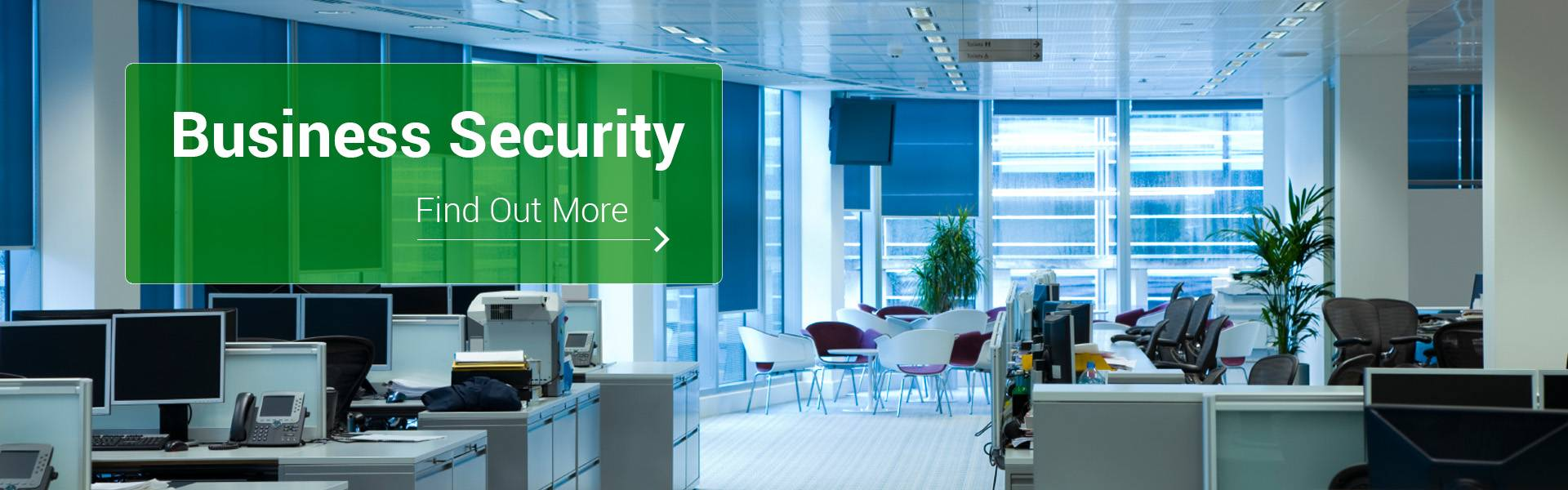 Business Security, modern office